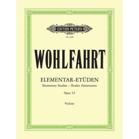 Wohlfahrt 40 Elementary Studies Op. 54 (ed. Sitt) (Edition Peters)