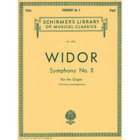 WIDOR SYMPHONY NO 5 FOR ORGAN