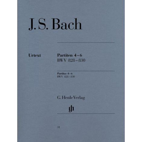 Bach: Partitas 4-6 BWV 828-830 (Henle Urtext)