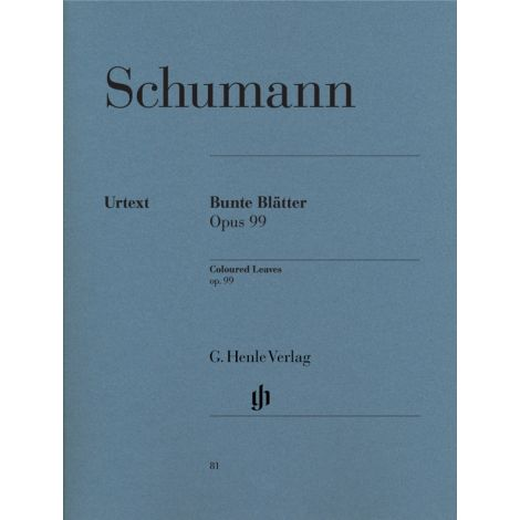 Schumann: Coloured Leaves (Bunte Bl闂佺儵鏅濋悘娓r) op. 99 (Henle)