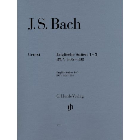 Bach: English Suites 1-3, BWV 806-808 (Henle Urtext)