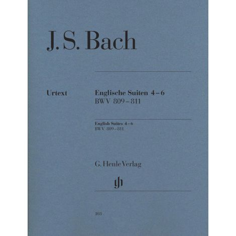 Bach: English Suites 4-6, BWV 809-811 (Henle Urtext)