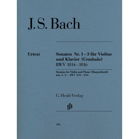 Bach: Violin Sonatas No. 1-3 BWV 1014-1016 (Henle Urtext)