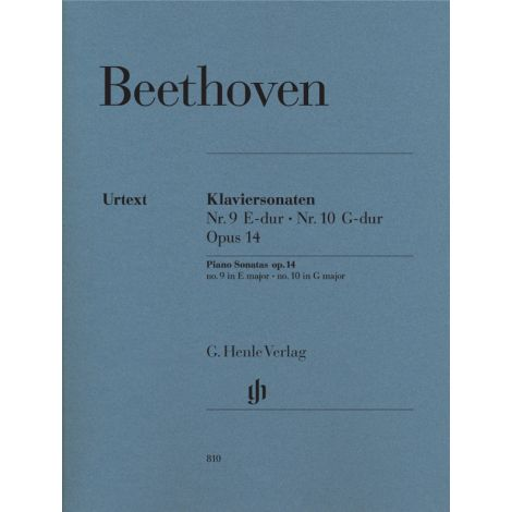 Beethoven: Piano Sonatas no. 9 E major op. 14 no. 1 and no. 10 G major op. 14 no. 2 (Henle)