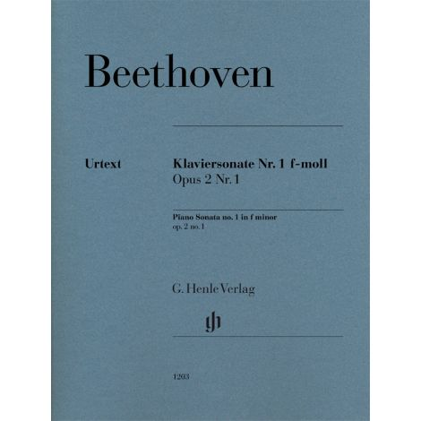 Beethoven: Piano Sonata no. 1 f minor op. 2 no. 1 (Henle)