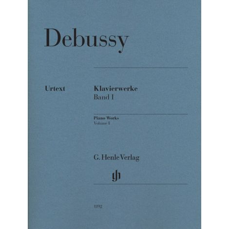Claude Debussy: Piano Works - Volume I (Paperback) (Henle Urtext)