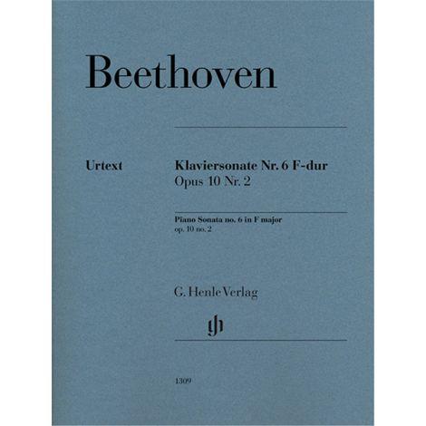 Beethoven: Piano Sonata no. 6 F major op. 10 no. 2 (Henle)