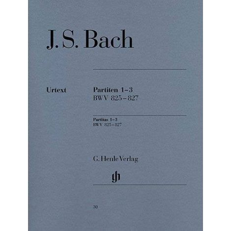 J.S. Bach: Partitas Nos.1-3 BWV 825-827 (Henle Urtext)