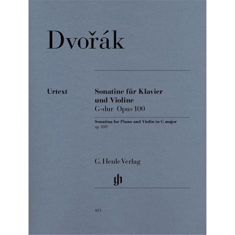 Antonin Dvorak Sonatina For Piano And Violin In G Op.100 (Henle Urtext)