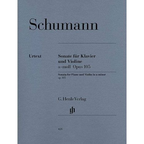 Robert Schumann: Sonata For Violin And Piano In A Minor Op. 105 (Henle Urtext)
