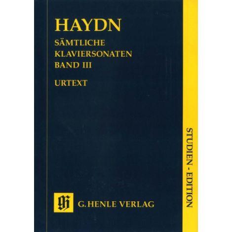 Haydn: Complete piano sonatas Volume 3 (Study Score) (Henle Urtext)
