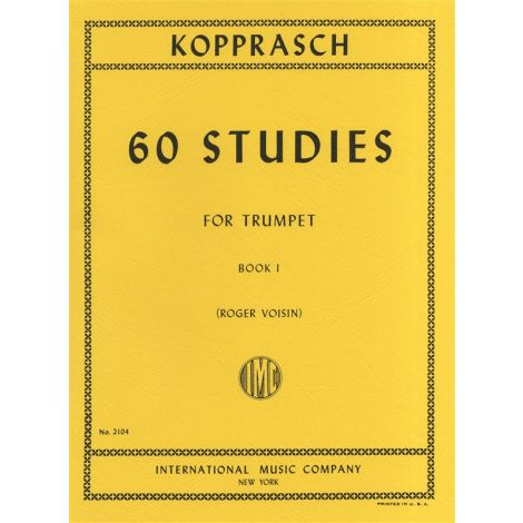 Kopprasch 60 Studies for Trumpet Book 1