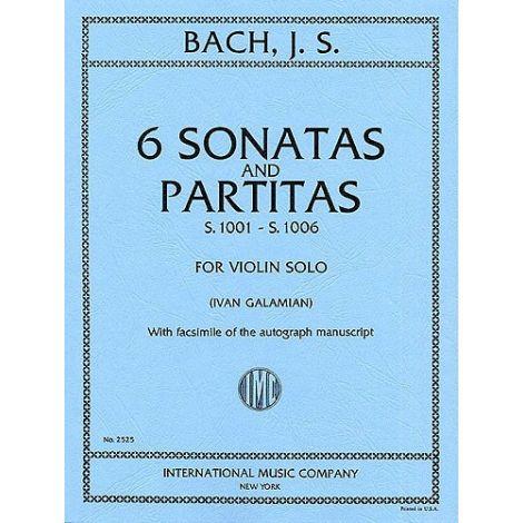 Bach: 6 Sonatas and Partitas (ed. Ivan Galamian) (Violin)