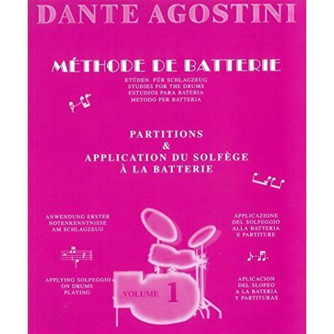 Agostini, Dante: Methode De Batterie - Studies For The Drums - Solfege Batterie Volume 1