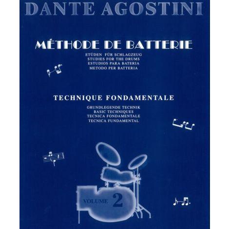 Dante Agostini: M闂佽偐鍘у畵鎻緊de De Batterie: Technique Fondamentale - Volume 2