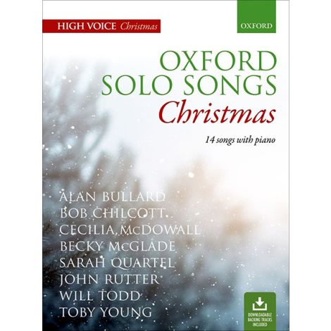 Oxford Solo Songs: Christmas (14 Songs with Piano / High Voice)