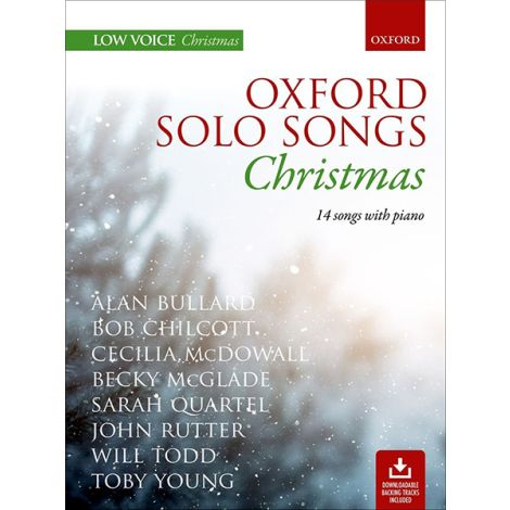 Oxford Solo Songs: Christmas (14 Songs with Piano / Low Voice)