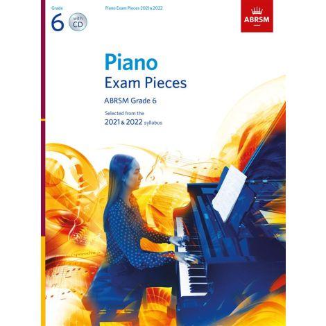 ABRSM Piano Exam Pieces 2021 & 2022 - Grade 6 + CD