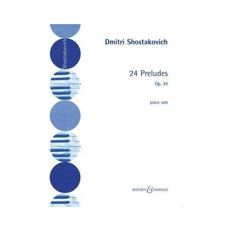 Shostakovich: 24 Preludes Op. 34 for Piano
