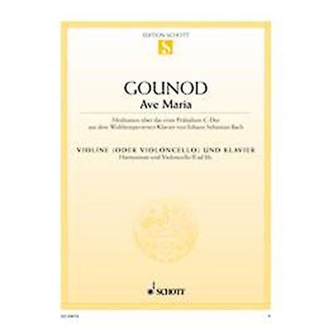 Bach/Gounod: Ave Maria Violin (or Cello) and Piano
