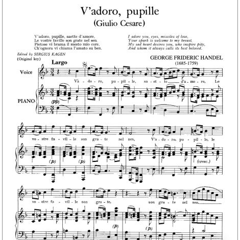 V'Adoro Pupille From Giulio Cesare (High)