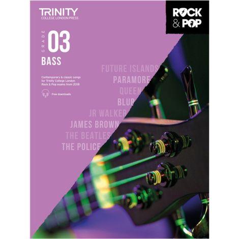 TCL TRINITY COLLEGE LONDON ROCK POP 2018 BASS Grade 3