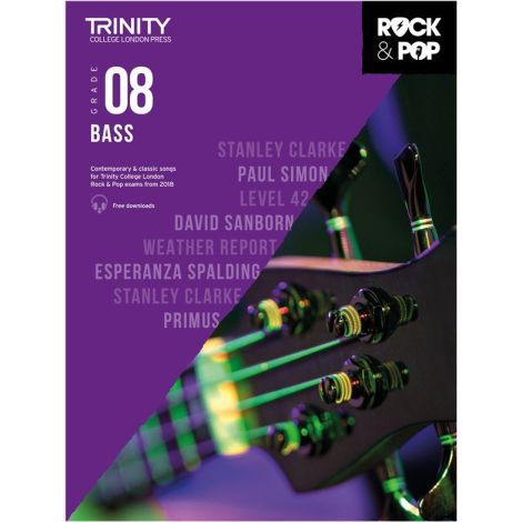 TCL TRINITY COLLEGE LONDON ROCK POP 2018 BASS Grade 8