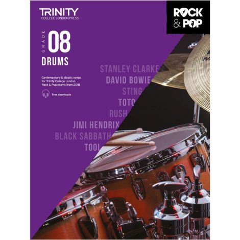 TCL TRINITY COLLEGE LONDON ROCK POP 2018 DRUMS Grade 8