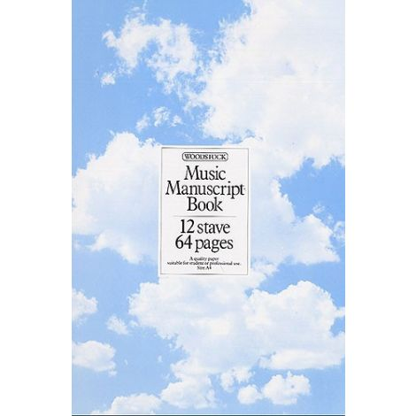 WOODSTOCK MUSIC MANUSCRIPT PAPER  12 STAVE   64 PAGES (A4)